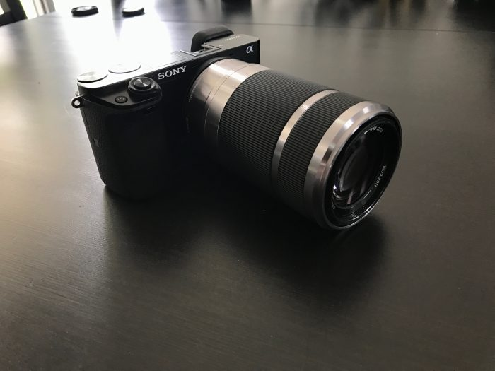 The 55-210mm lens with the a6000