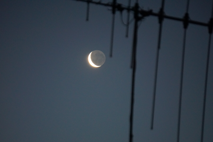 Photo of the moon taken with the 55-210mm lens