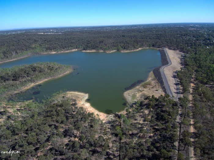 Sping Gully reservoir drone