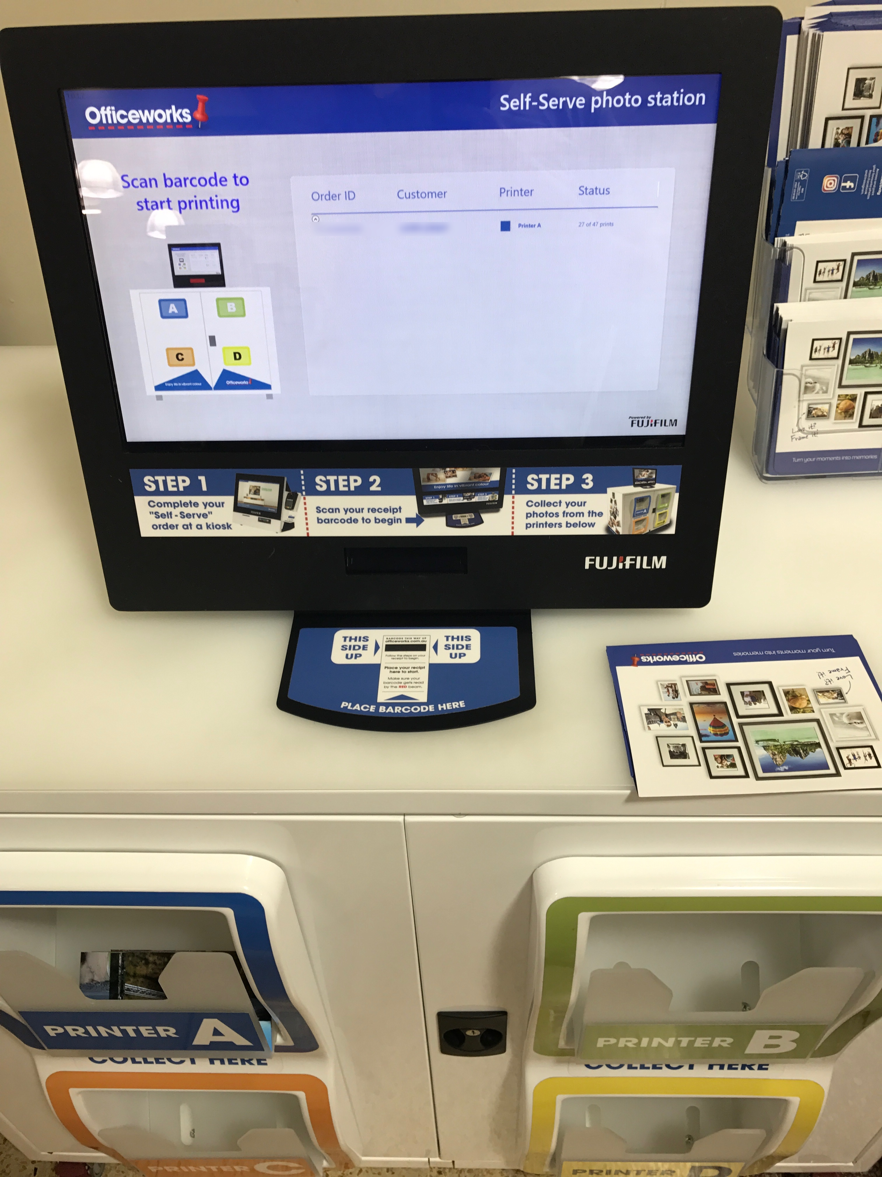 The Officeworks self serve photo printing experience – corbpie