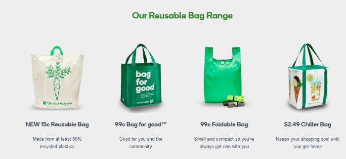 Woolworths reusable bags