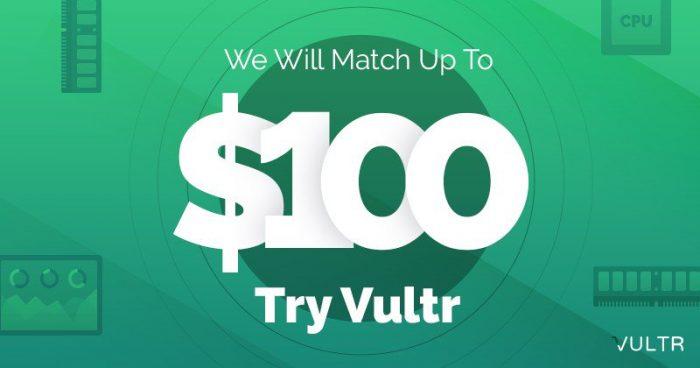 vultr match 100 promo