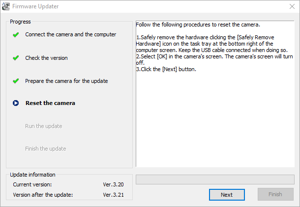 Updating sony a6000 firmware to 3.21 4