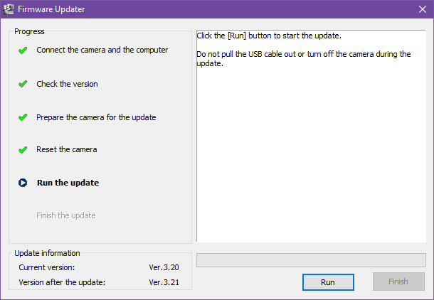 Updating sony a6000 firmware to 3.21 5